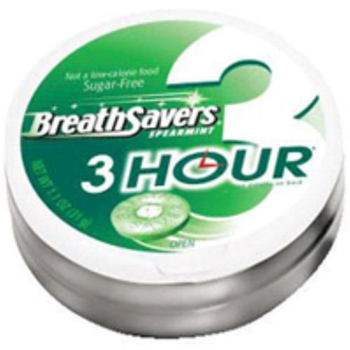 Breath Savers 3-Hour Spearmint 8 Pack (1.1 oz per pack) (Pack of 2)