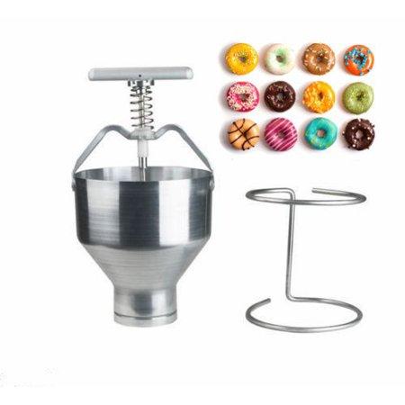 On Clearance Manual Donut Maker Depositor Dropper Plunger Dough Batter Dispenser Hopper Home