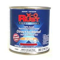 WXO-6 Premium X-O Rust 1/2 PT Gloss Bright Red Water Base Interior/Ext 2PK