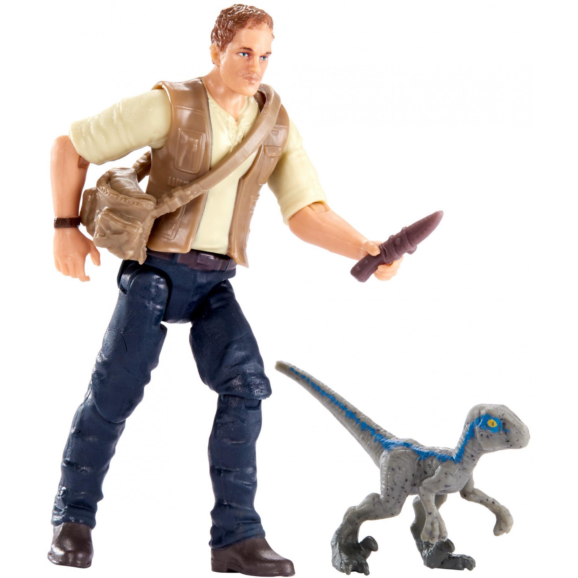 "Jurassic World Owen & Baby ""Blue"" Figure"