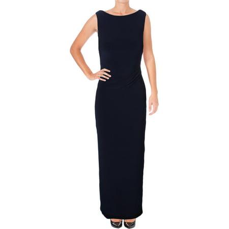 Lauren Ralph Lauren Womens Lonelle Cowl Back Sequined Evening Dress