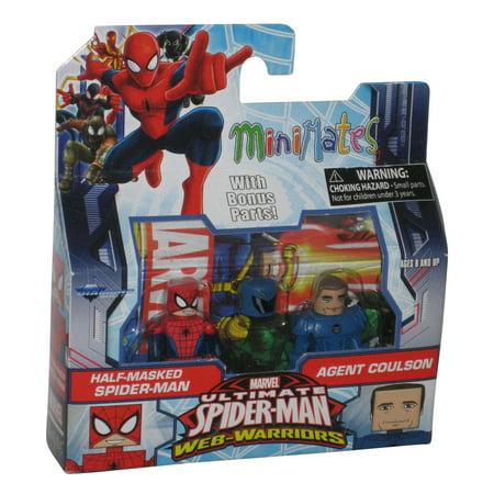 Marvel Minimates Half Masked & Agent Coulson Figure Set - Ultimate Spider-Man Web Warriors](Agent Venom Mask)