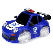 Super Police Coupe Battery Operated Bump and Go Toy Car w/ Ultra Bright Head Lights, Sounds (Colors May Vary)
