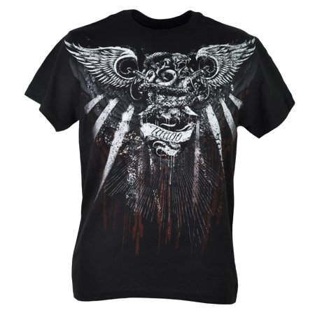 Fifth Sun Snake Tattoo Graphic Black Mens Ornate Tshirt Tee Shirt Adult XLarge