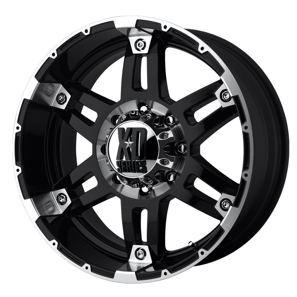 "XD-Series 797 Spy Gloss Black Machined Wheel (17x8""/5x5"")"