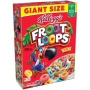 Kellogg's Froot Loops Breakfast Cereal, Fruit Flavored, 26 Oz