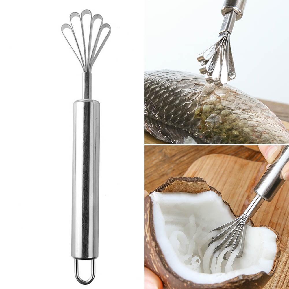 Coconut Planer Meat Grater Scraper Fish Scale Cleaning Tool Multi-Purpose Dig WA