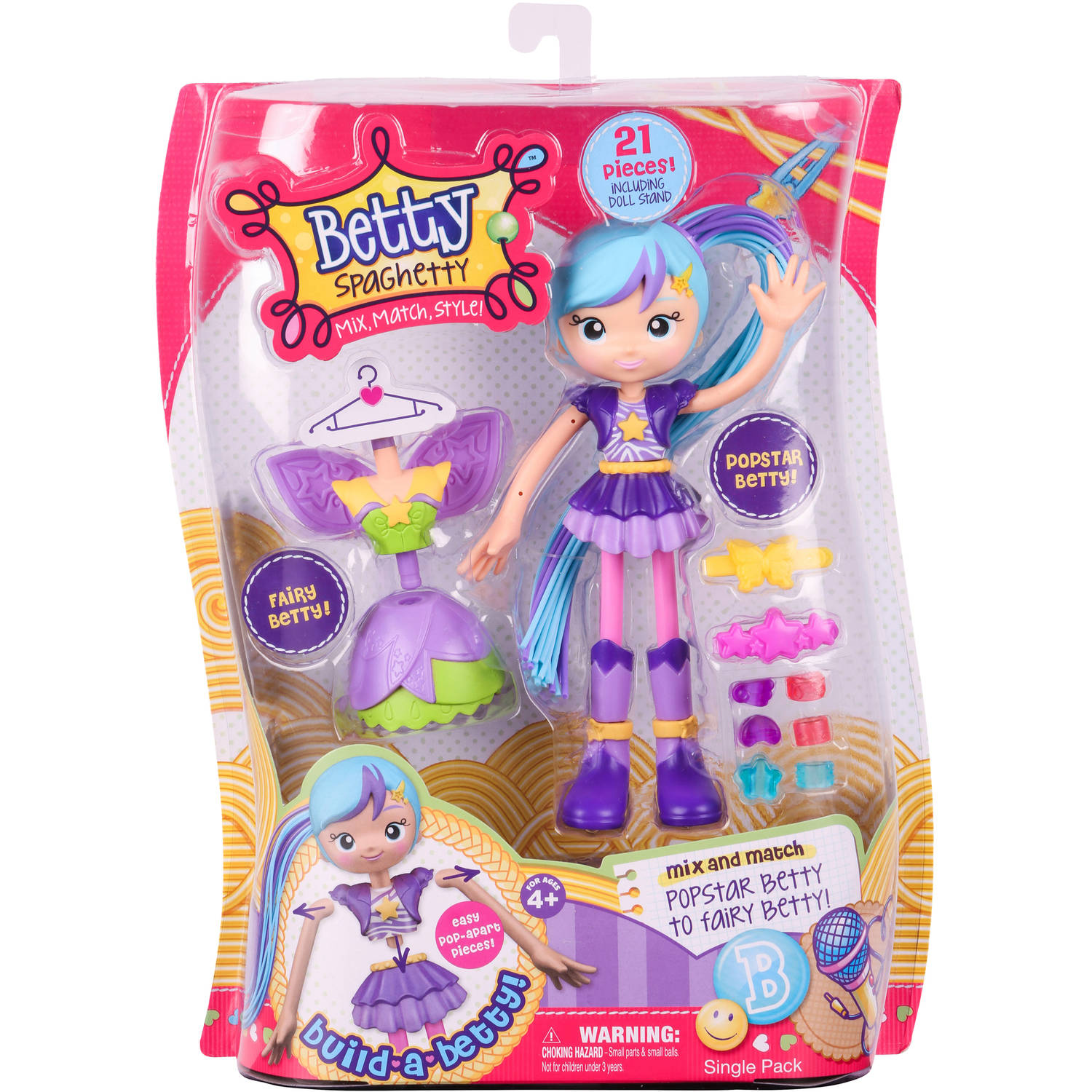 Betty Spaghetty S1 Single Pack, Pop Star Betty