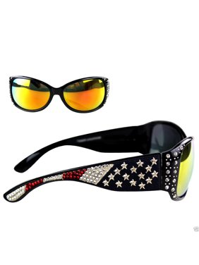 fa80a3f619 Product Image Montana West Ladies Sunglasses American Pride US Flag Western  Rhinestones UV400