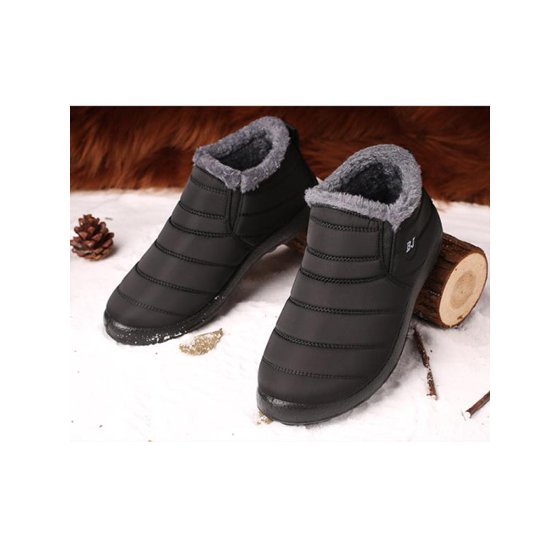 ba7bc1a67a Meigar - Meigar 2019 Women s Casual Winter Shoes Warm Fabric Fur-lined Slip  On Ankle Snow Boots Sneakers Shoes - Walmart.com