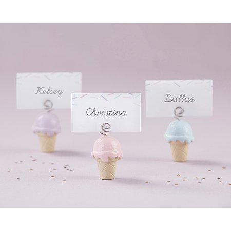 Ice Cream Place Card Holder (Set of - Silver Place Card Holders