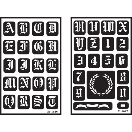 Free Glass Etching Stencils (Armour Products Over 'n' Over Reusable Glass Etching Stencils 5