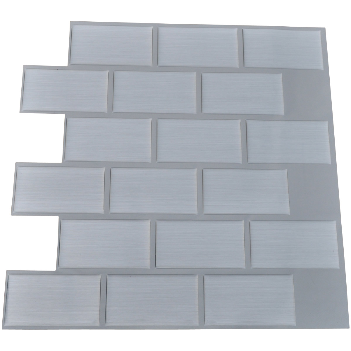 "12""x12"" Peel and Stick Tile for Kitchen Backsplash, Subway A50 White (6 Sheets)"