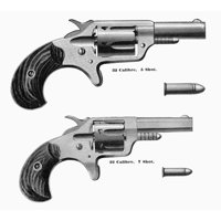 Revolvers 19Th Century N5-Shot And 7-Shot Revolvers Line Engraving American 1870S Or 1880S Rolled Canvas Art -  (24 x 36)