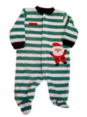 ab33bb5ba Product Image Carters Infant Holiday Sleeper Plush Green Stripe Christmas  Sleep & Play Santa