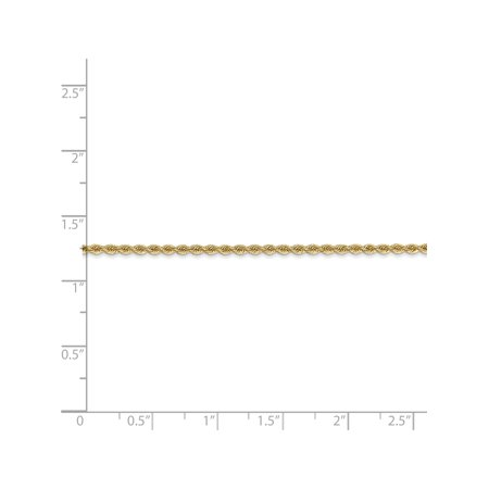 14k Yellow Gold 2mm Handmade Regular Rope Chain - image 1 of 5
