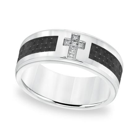 Cambridge Jewelry - Cambridge Jewelry Stainless Steel and Carbon Fiber  Diamond Accent Ring - Walmart com