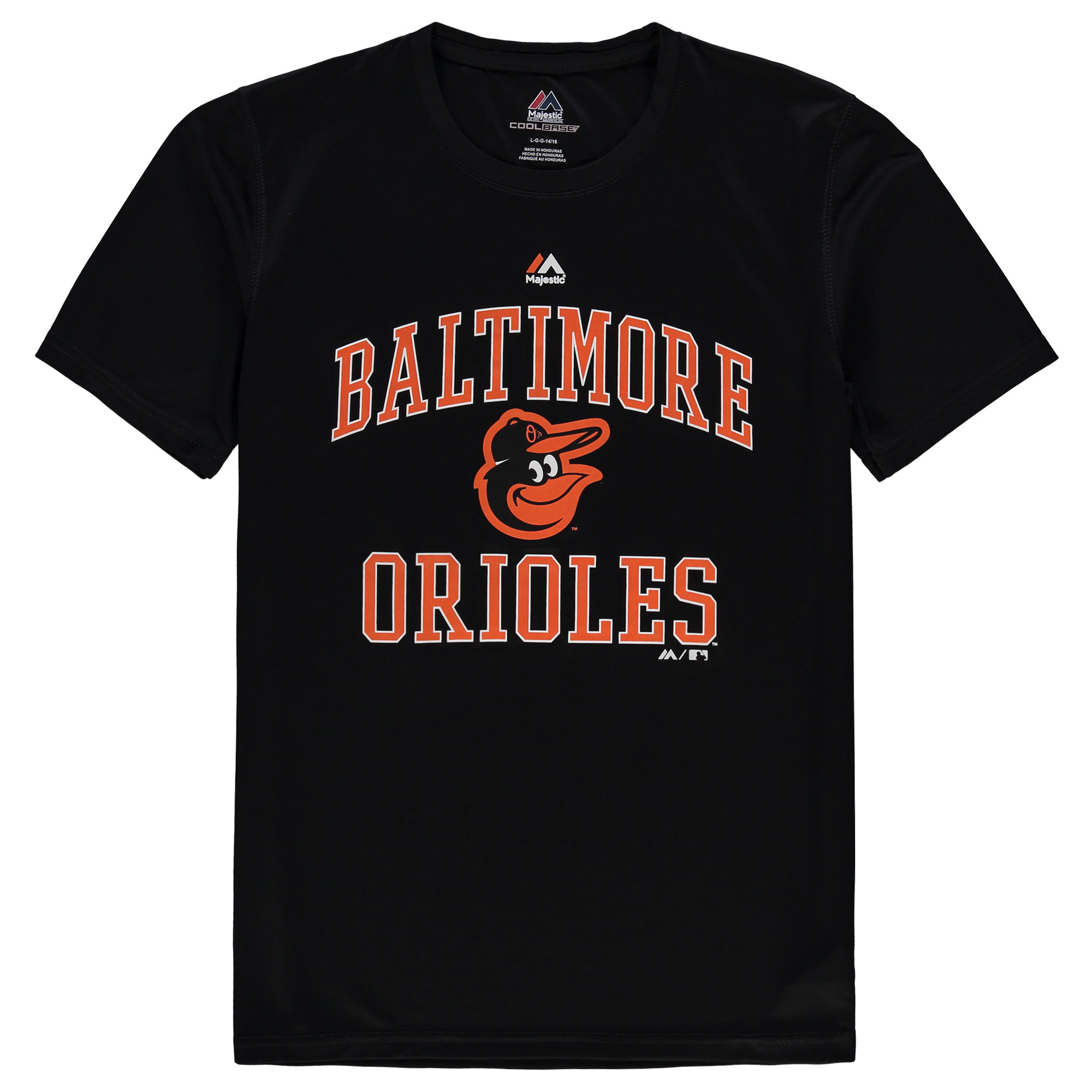 Baltimore Orioles Majestic Youth City Wide Cool Base T-Shirt - Black