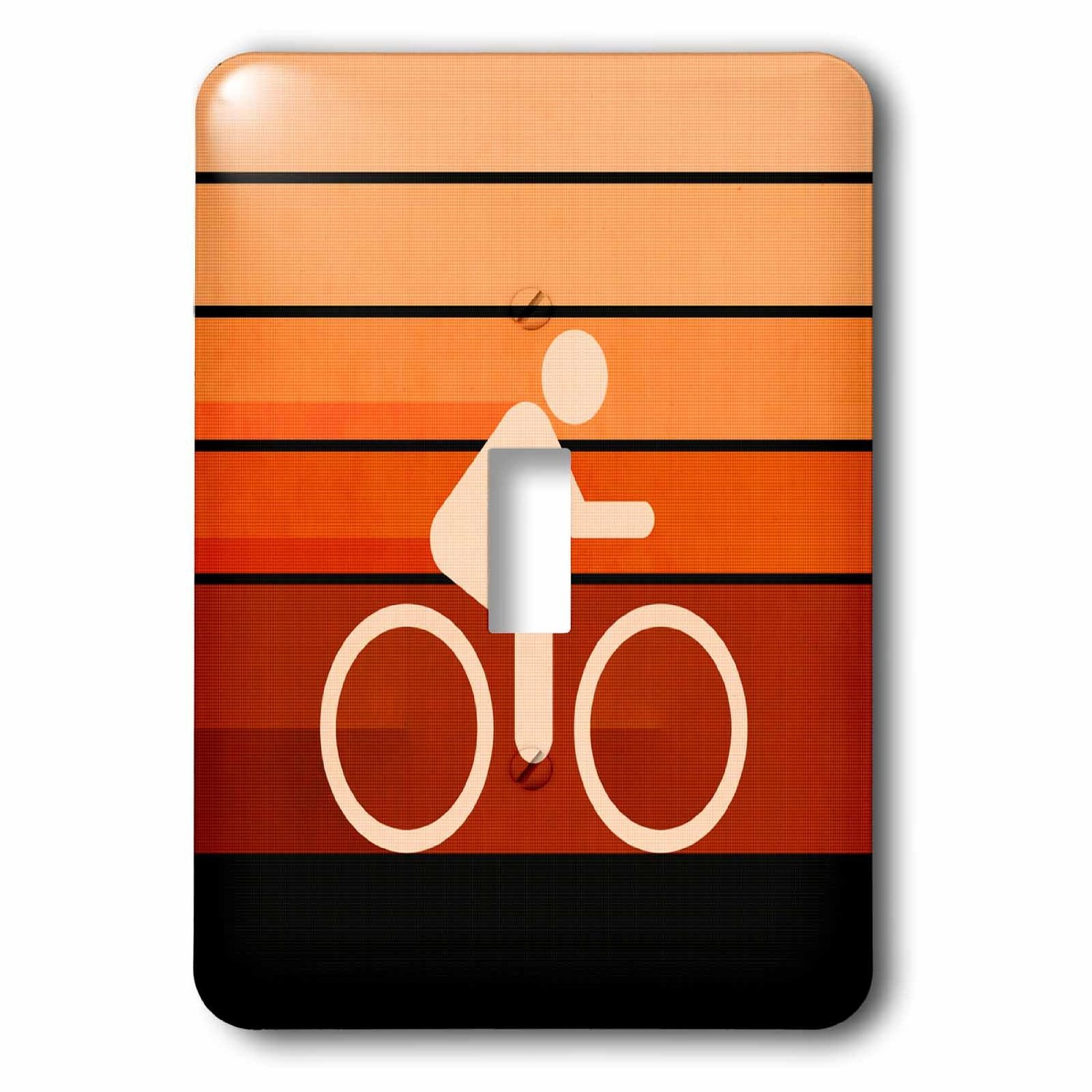 Image of 3dRose Biking Orange - colorful textured graphic design promoting biking, Single Toggle Switch