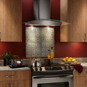Broan 30W in. Curved Glass Canopy Wall Mounted Range Hood