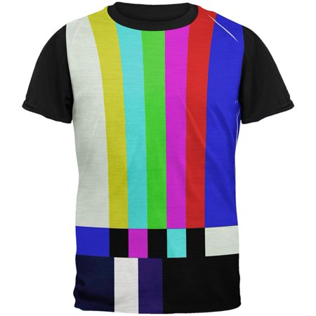 Greatest Bar Halloween (Halloween SMPTE Color Bars Late Night TV Costume All Over Mens Black Back T)