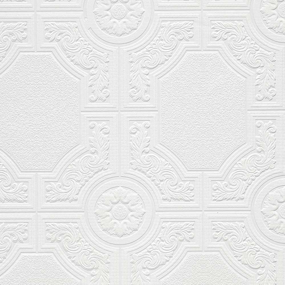 Architectural Panels Paintable Wallpaper