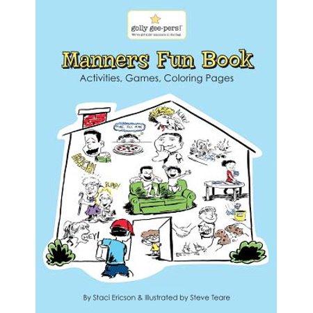 Halloween School Activities Elementary (Manners Fun Book : A Fun Workbook with Activities for Pre-K Through Elementary School)