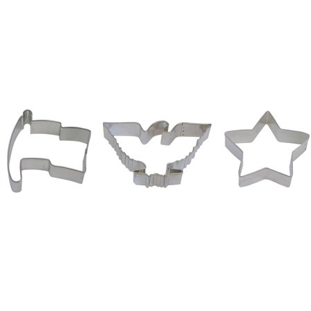 4th of July Cookie Cutter Set - American Flag 3.25