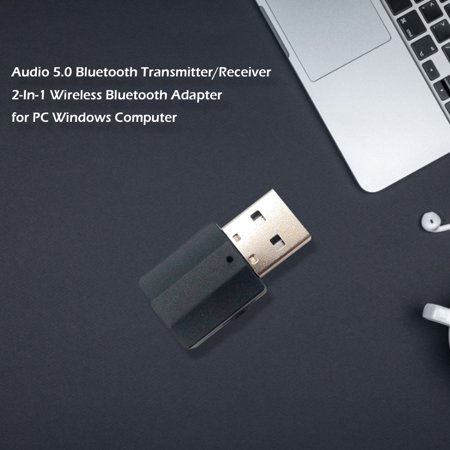 Audio 5.0 Bluetooth Transmitter/Receiver 2-In-1 Wireless Bluetooth Adapter for PC Windows Computer - image 5 de 9
