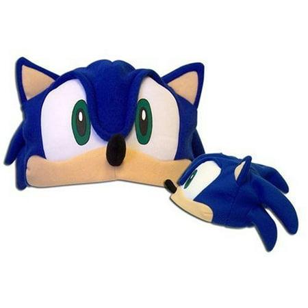 Sonic The Hedgehog Fleece Hat Cap Beanie Sega Anime Cosplay Adult (Sonic The Hedgehog Hat)