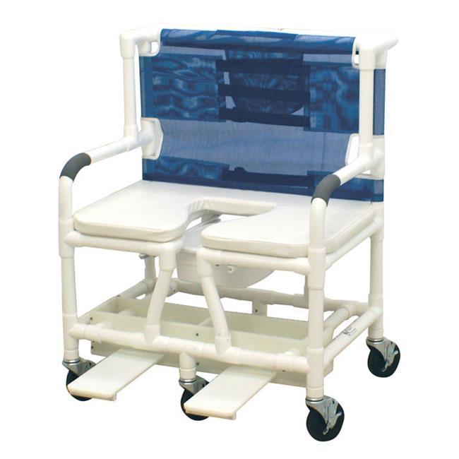MJM International 131-5-SSDE Bariatric Shower- Commode Chair
