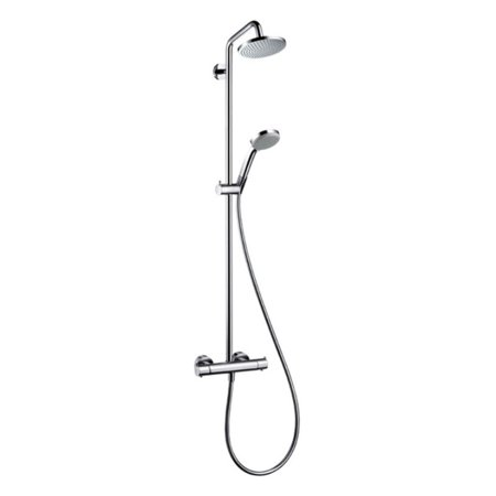 Hansgrohe 27169821 Croma Green Showerpipe Shower System, Eco Right 2.0GPM, Various Colors
