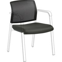 Lorell Stackable Chair Mesh Back/Fabric Seat Kit, Black, 1 Each (Quantity)
