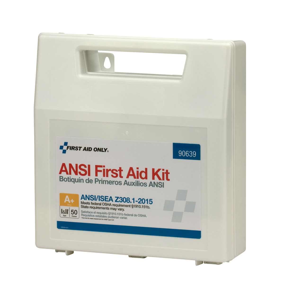 First Aid Only 50 Person ANSI A+ First Aid Kit, Plastic, 183 Pc