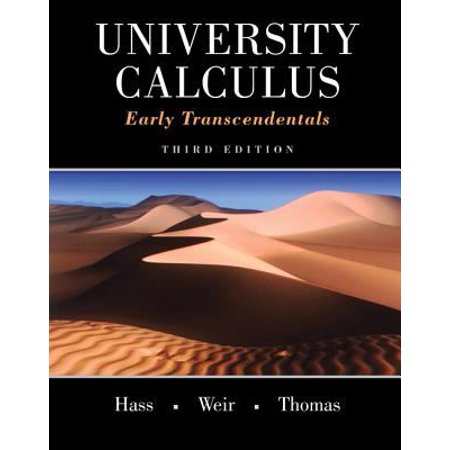 University Calculus  Early Transcendentals