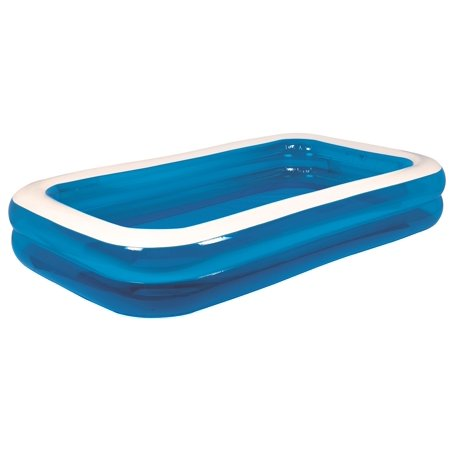 103 Royal Blue And White Rectangular Inflatable Swimming Pool