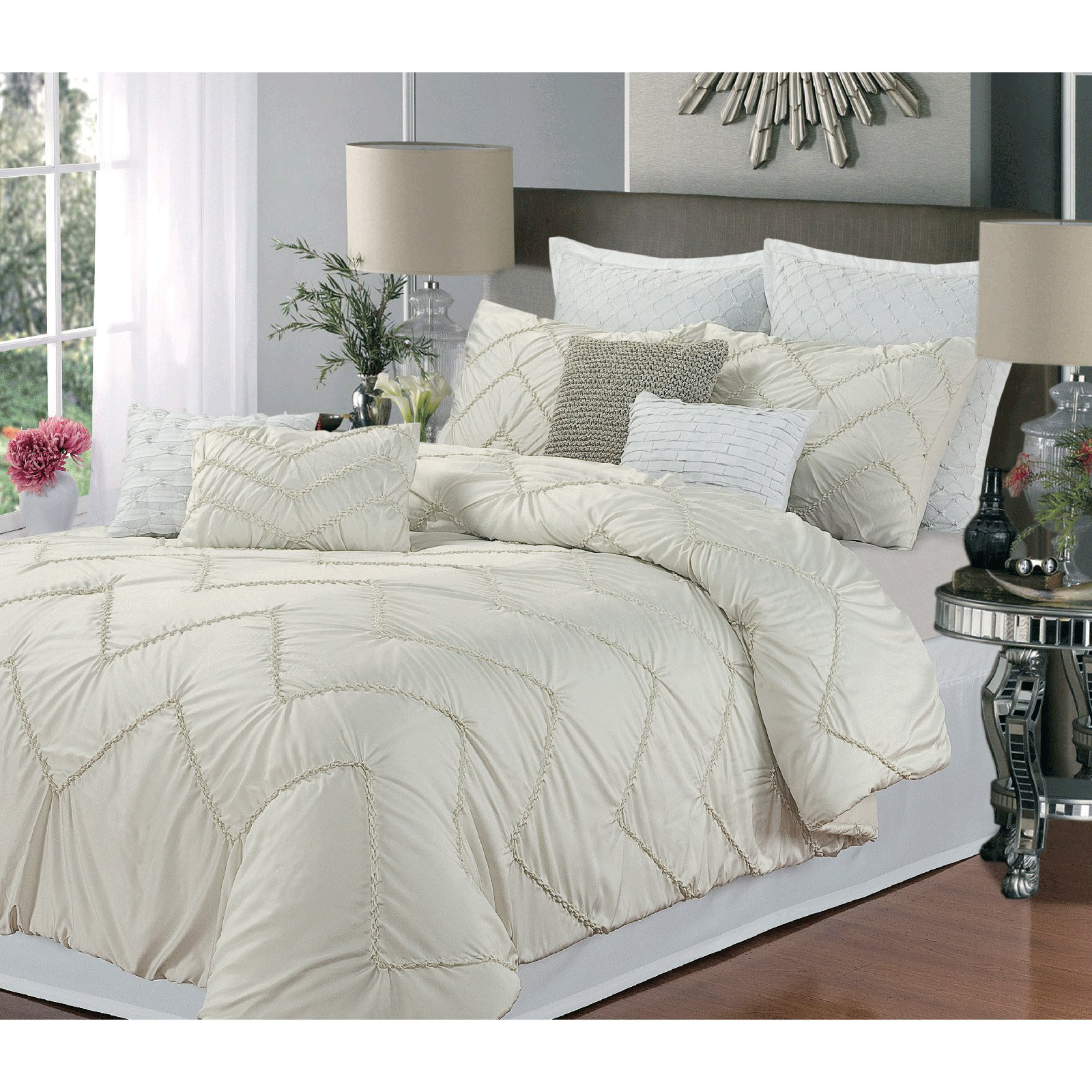 comforters comforter beautiful design queen sets bedroom beige set for with dazzling