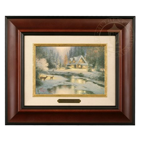 Thomas Kinkade Deer Creek Cottage Brushwork (Burl Frame) ()