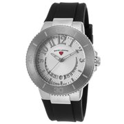 11315Sm-02 Riviera Black Silicone Silver-Tone Dial Stainless Steel Watch