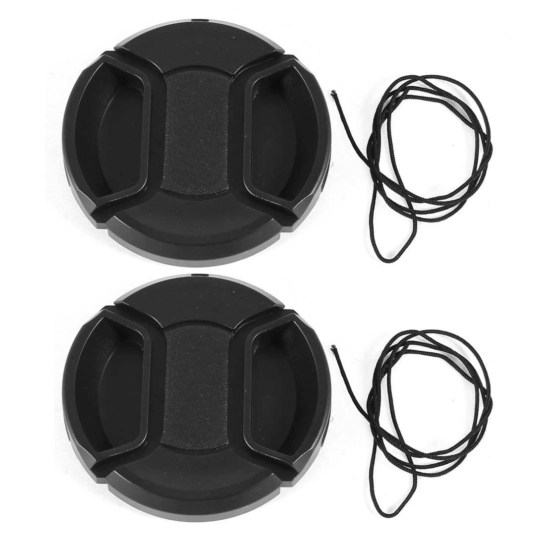Unique Bargains 2 x 49mm Snap in Style Lens Cap w String Holder Keeper Strap for Digital Camera