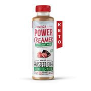 Omega PowerCreamer - PEPPERMINT MOCHA Keto Coffee Creamer - Made with Grass-fed Ghee, Organic Coconut Oil, MCT Oil, Natural Flavoring, & Organic Stevia Extract | Paleo, 10 fl oz.