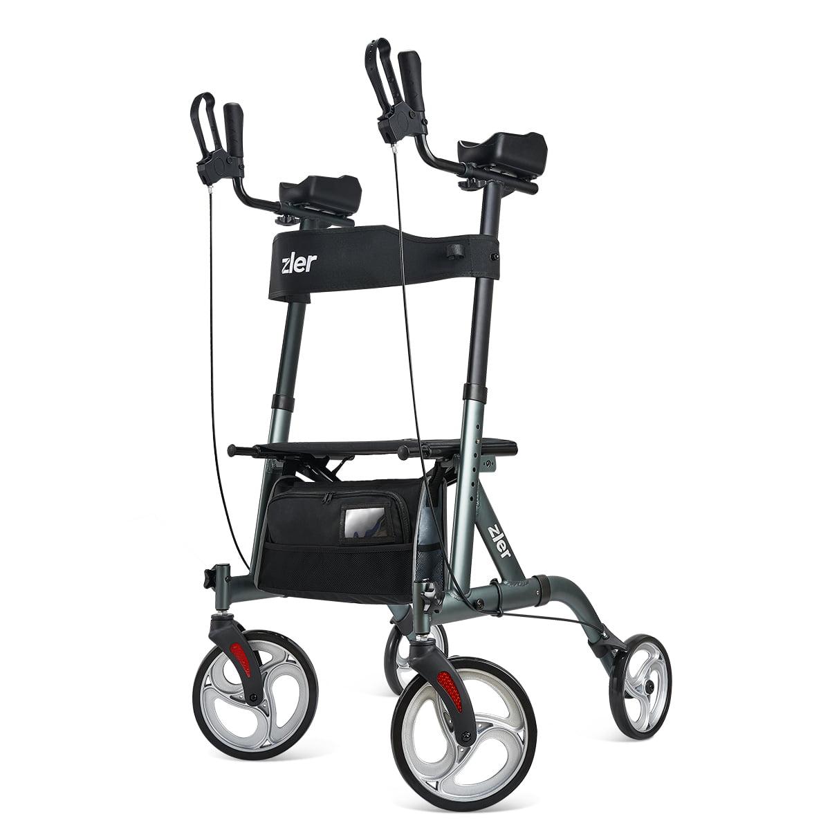 Drive Medical Nitro Euro Style Rollator Rolling Walker Tall Black Walmart Com Walmart Com