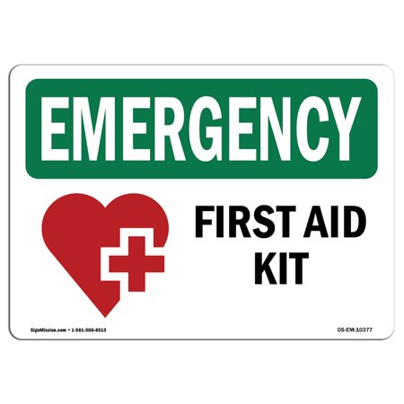 Acid Sign (OSHA EMERGENCY Sign - First Aid Kit With Symbol | Choose from: Aluminum, Rigid Plastic or Vinyl Label Decal | Protect Your Business, Construction Site, Warehouse & Shop Area | Made in the USA )