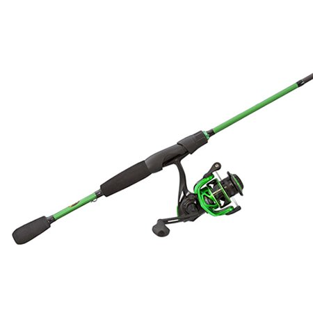 - Lews Fishing Mach Spinning Combo 6.2:1 Gear Ratio, 7+1 Bearings, 7' Length, 1 Piece, Medium Power, Ambidextrous