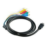 Multi HDMI Male to Audio Video RCA RGB AV Component Cable Cord For 1080P HD TV