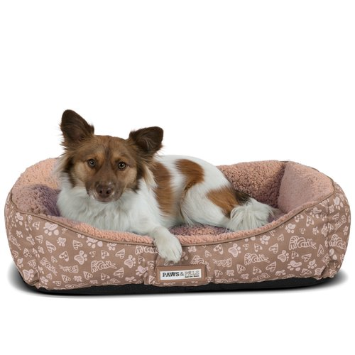 Tucker Murphy Pet Brownsdale Triangle Corner Lounger with Self Warming Cozy Inner Cushion Bolster
