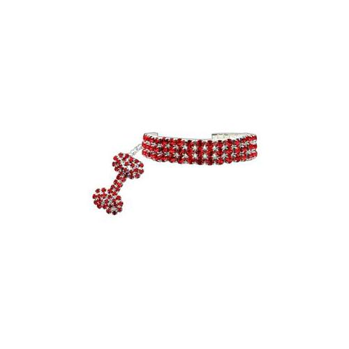 Glamour Bits Pet Jewelry Red S (6-8)