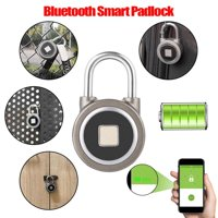 HERCHR Fingerprint Lock, Fingerprint Smart Keyless Waterproof Bluetooth Lock APP Control Security Anti-Theft Padlock, Bluetooth Door Lock, Fingerprint Lock