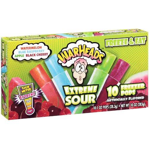Warheads Extreme Sour Freezer Pops, 10ct