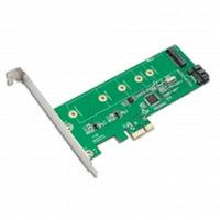 PCIe x1 to M.2(NGFF) + SATA 6G (HDD/SSD) with Standard & Low Profile Brackets; RAID